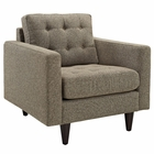 Modway Empress Upholstered Fabric Armchair in Oatmeal MY-EEI-1013-OAT