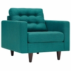 Modway Empress Upholstered Fabric Armchair in Teal MY-EEI-1013-TEA