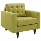 Modway Empress Upholstered Fabric Armchair in Wheatgrass MY-EEI-1013-WHE