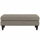 Modway Empress Upholstered Fabric Bench in Granite MY-EEI-2138-GRA