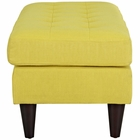 Modway Empress Upholstered Fabric Bench in Sunny MY-EEI-2138-SUN
