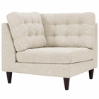 Modway Empress Upholstered Fabric Corner Sofa in Beige MY-EEI-2610-BEI
