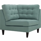 Modway Empress Upholstered Fabric Corner Sofa in Laguna MY-EEI-2610-LAG