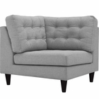Modway Empress Upholstered Fabric Corner Sofa in Light Gray MY-EEI-2610-LGR