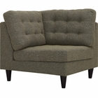 Modway Empress Upholstered Fabric Corner Sofa in Oatmeal MY-EEI-2610-OAT