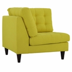 Modway Empress Upholstered Fabric Corner Sofa in Sunny MY-EEI-2610-SUN