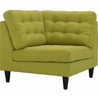 Modway Empress Upholstered Fabric Corner Sofa in Wheatgrass MY-EEI-2610-WHE