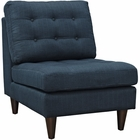 Modway Empress Upholstered Fabric Lounge Chair in Azure MY-EEI-2140-AZU