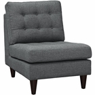 Modway Empress Upholstered Fabric Lounge Chair in Gray MY-EEI-2140-GRY