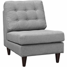 Modway Empress Upholstered Fabric Lounge Chair in Light Gray MY-EEI-2140-LGR