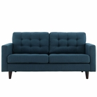 Modway Empress Upholstered Fabric Loveseat in Azure MY-EEI-1547-AZU