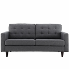 Modway Empress Upholstered Fabric Loveseat in Gray MY-EEI-1547-DOR