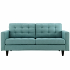 Modway Empress Upholstered Fabric Loveseat in Laguna MY-EEI-1547-LAG