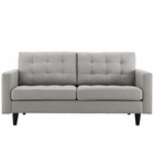 Modway Empress Upholstered Fabric Loveseat in Light Gray MY-EEI-1547-LGR