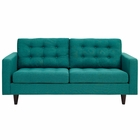 Modway Empress Upholstered Fabric Loveseat in Teal MY-EEI-1547-TEA