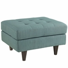 Modway Empress Upholstered Fabric Ottoman in Laguna MY-EEI-1667-LAG
