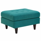 Modway Empress Upholstered Fabric Ottoman in Teal MY-EEI-1667-TEA