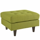 Modway Empress Upholstered Fabric Ottoman in Wheatgrass MY-EEI-1667-WHE