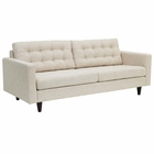 Modway Empress Upholstered Fabric Sofa in Beige MY-EEI-1011-BEI