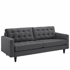 Modway Empress Upholstered Fabric Sofa in Gray MY-EEI-1011-DOR
