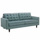 Modway Empress Upholstered Fabric Sofa in Laguna MY-EEI-1011-LAG