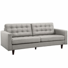 Modway Empress Upholstered Fabric Sofa in Light Gray MY-EEI-1011-LGR