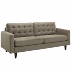 Modway Empress Upholstered Fabric Sofa in Oatmeal MY-EEI-1011-OAT