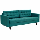 Modway Empress Upholstered Fabric Sofa in Teal MY-EEI-1011-TEA