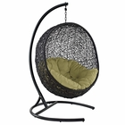 Modway Encase Swing Outdoor Patio Wicker Rattan Lounge Chair in Peridot MY-EEI-739-PER-SET