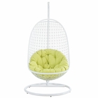 Modway Encounter Swing Outdoor Patio Wicker Rattan Lounge Chair in White MY-EEI-738-SET