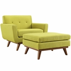 Modway Engage 2 Piece Upholstered Fabric Armchair and Ottoman in Wheatgrass MY-EEI-2187-WHE-SET