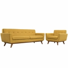 Modway Engage Armchair and Sofa Upholstered Fabric Set of 2 in Citrus MY-EEI-1344-CIT