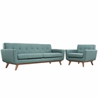 Modway Engage Armchair and Sofa Upholstered Fabric Set of 2 in Laguna MY-EEI-1344-LAG