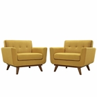Modway Engage Armchair Upholstered Fabric Set of 2 in Citrus MY-EEI-1284-CIT