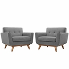 Modway Engage Armchair Upholstered Fabric Set of 2 in Expectation Gray MY-EEI-1284-GRY