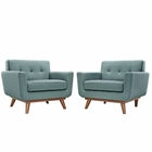 Modway Engage Armchair Upholstered Fabric Set of 2 in Laguna MY-EEI-1284-LAG