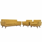 Modway Engage Armchairs and Sofa Upholstered Fabric Set of 3 in Citrus MY-EEI-1345-CIT