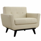 Modway Engage Bonded Leather Armchair in Beige MY-EEI-1336-BEI