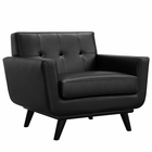 Modway Engage Bonded Leather Armchair in Black MY-EEI-1336-BLK