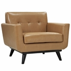 Modway Engage Bonded Leather Armchair in Tan MY-EEI-1336-TAN