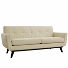 Modway Engage Bonded Leather Loveseat in Beige MY-EEI-1337-BEI