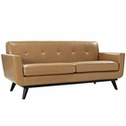 Modway Engage Bonded Leather Loveseat in Tan MY-EEI-1337-TAN