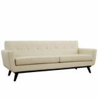 Modway Engage Bonded Leather Sofa in Beige MY-EEI-1338-BEI
