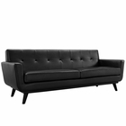 Modway Engage Bonded Leather Sofa in Black MY-EEI-1338-BLK