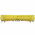 Modway Engage L-Shaped Upholstered Fabric Sectional Sofa in Sunny MY-EEI-2108-SUN-SET