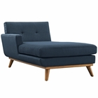 Modway Engage Left-Facing Upholstered Fabric Chaise in Azure MY-EEI-1793-AZU