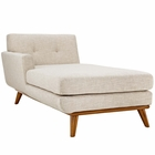 Modway Engage Left-Facing Upholstered Fabric Chaise in Beige MY-EEI-1793-BEI