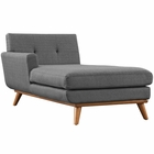 Modway Engage Left-Facing Upholstered Fabric Chaise in Gray MY-EEI-1793-DOR