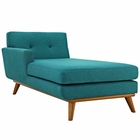 Modway Engage Left-Facing Upholstered Fabric Chaise in Teal MY-EEI-1793-TEA