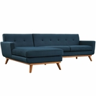 Modway Engage Left-Facing Upholstered Fabric Sectional Sofa in Azure MY-EEI-2068-AZU-SET